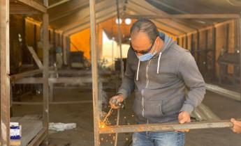 SYRIAN REFUGEES BUILD COVID-19 QUARANTINE SITE IN JORDAN CAMP